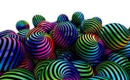 Bolas coloreadas Imágenes de archivo libres de regalías