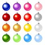Bolas coloreadas de la Navidad stock de ilustración
