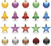 Bolas coloreadas de la Navidad Fotos de archivo libres de regalías