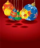 Bolas coloreadas de la Navidad Imágenes de archivo libres de regalías