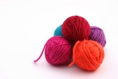 Bolas coloreadas de las lanas Fotografía de archivo libre de regalías