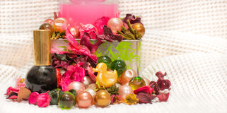 Bolas coloreadas del baño Foto de archivo libre de regalías