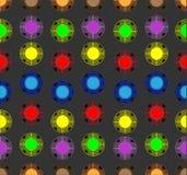 Bolas coloreadas en un fondo oscuro ilustración del vector