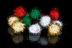 Bolas coloreadas estacionales Fotografía de archivo libre de regalías