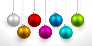 Bolas coloreadas la Navidad Fotos de archivo