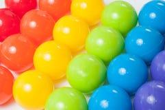 Bolas coloreadas plástico Fotografía de archivo