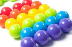Bolas coloreadas plástico Foto de archivo