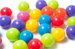 Bolas coloreadas plástico Fotografía de archivo libre de regalías