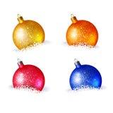 Bolas coloridas brilhantes do Natal Fotografia de Stock