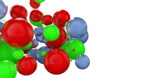 bolas coloridas 3d em um fundo do wihte Fotografia de Stock Royalty Free