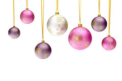 Bolas coloridas de la chuchería de la Navidad Foto de archivo