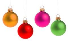 Bolas coloridas de la Navidad Imagen de archivo