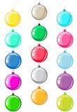Bolas coloridas de la Navidad. Foto de archivo libre de regalías
