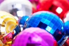 Bolas coloridas de la Navidad Foto de archivo libre de regalías