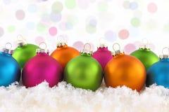 Bolas coloridas de la Navidad Fotografía de archivo