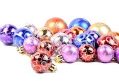 Bolas coloridas de la Navidad Fotografía de archivo libre de regalías