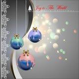 Bolas coloridas de la Navidad del chocolate de Diped Fotos de archivo