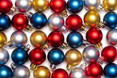 Bolas coloridas del Año Nuevo y de Cristmas Imagen de archivo