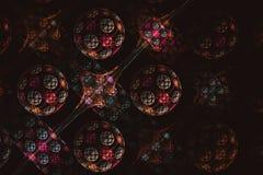 Bolas coloridas del fractal abstracto en fondo negro imagenes de archivo