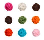 Bolas coloridas del hilado aisladas Fotografía de archivo libre de regalías