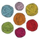 Bolas coloridas del hilado Madejas de las lanas libre illustration