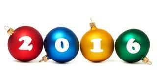Bolas coloridas do Natal isoladas Foto de Stock Royalty Free