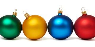 Bolas coloridas do Natal isoladas Imagem de Stock