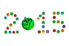 Bolas coloridas do Natal isoladas no branco Imagem de Stock