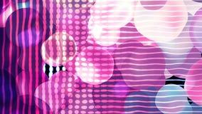 Bolas coloridas e grade simples - a abstração geométrica, distorção do espaço, fundo gerado por computador, 3D rende ilustração stock