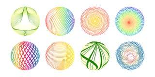 Bolas coloridas hechas de líneas Foto de archivo libre de regalías