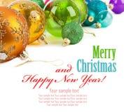 Bolas coloridas Natal Fotos de Stock Royalty Free