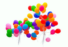Bolas coloridas no branco Fotografia de Stock