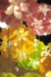 Bolas coloridas románticas con la luz Foto de archivo libre de regalías