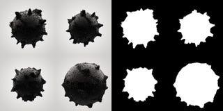 Bolas con los puntos Foto de archivo libre de regalías