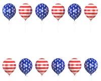 Bolas con los símbolos de los E.E.U.U. Imágenes de archivo libres de regalías