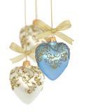 Bolas/corazones de la Navidad Foto de archivo