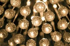 Bolas cristalinas de la lámpara Foto de archivo