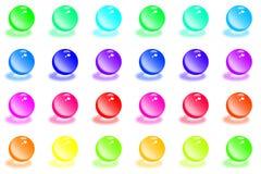 Bolas cristalinas del color stock de ilustración