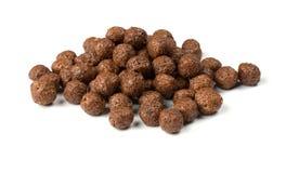 Bolas crujientes del chocolate Foto de archivo libre de regalías
