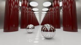 bolas 3d de aço Fotografia de Stock