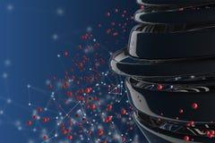bolas 3D decorativas listradas Imagens de Stock