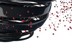 bolas 3D decorativas listradas Imagem de Stock Royalty Free