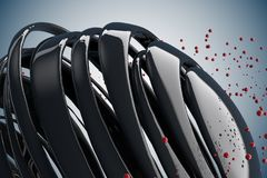 bolas 3D decorativas listradas Imagem de Stock