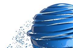 bolas 3D decorativas listradas Fotos de Stock Royalty Free