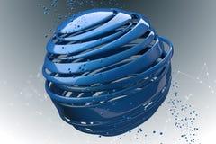 bolas 3D decorativas listradas Foto de Stock