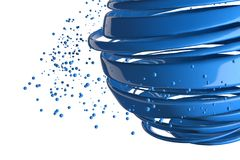 bolas 3D decorativas listradas Imagens de Stock Royalty Free