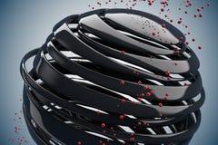 bolas 3D decorativas listradas Fotos de Stock