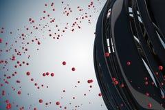 bolas 3D decorativas listradas ilustração royalty free