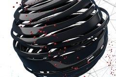 bolas 3D decorativas listradas ilustração stock