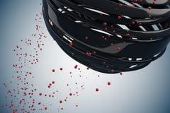 bolas 3D decorativas listradas ilustração do vetor
